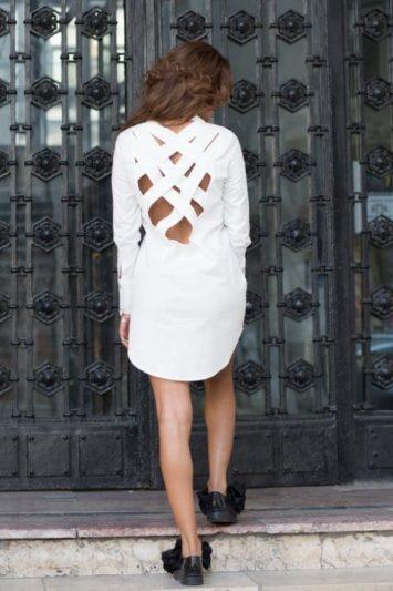 Cămașă damă tip rochie X alba 3
