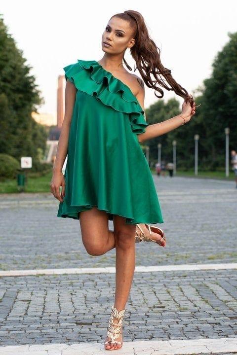 Rochie Eleganta Charisma Verde 3
