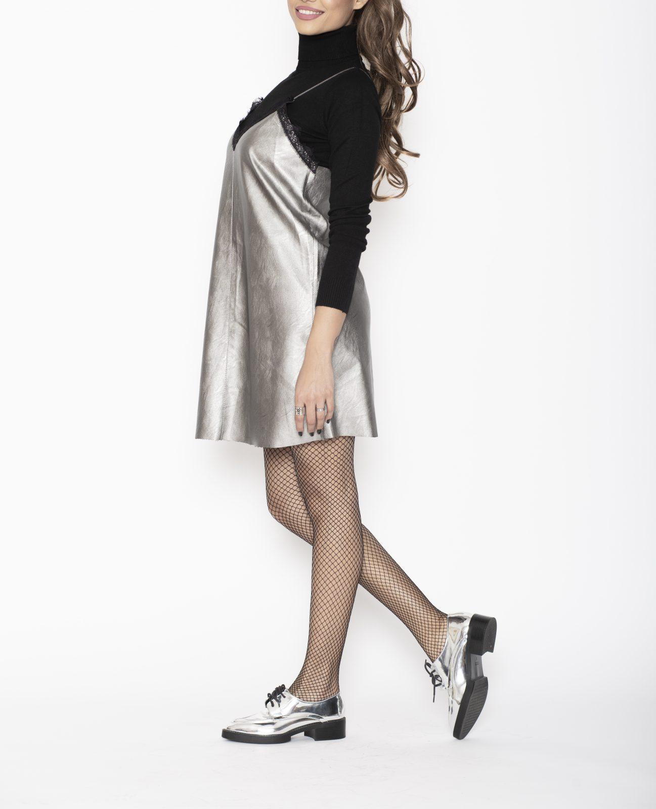 Rochie scurta argintie Silver
