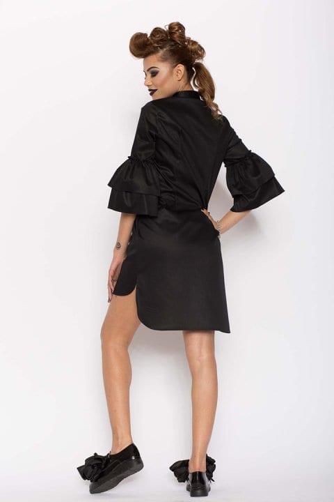 Cămașă damă tip rochie Clopot neagră 2