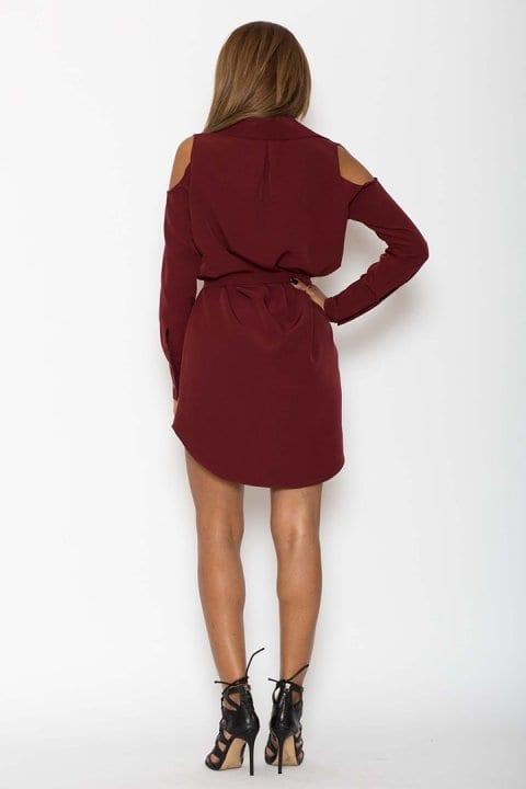 Camasa tip rochie Antonia bordo