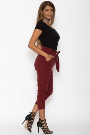 Pantaloni Dama Katias Bordo 2