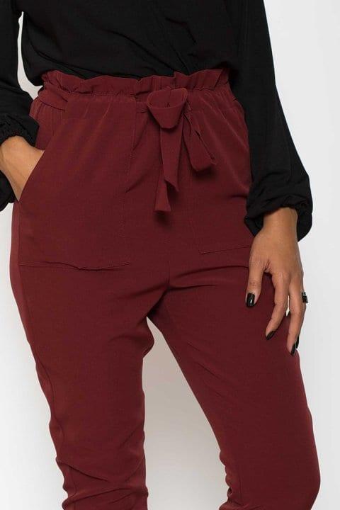 Pantaloni Dama Katias Bordo 4