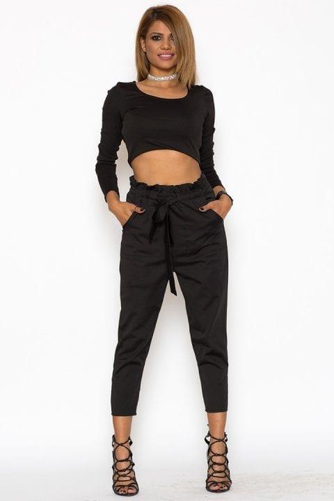 Pantaloni Dama Katias Negru 2