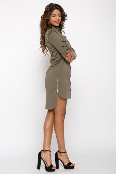 Rochie De Zi Army Kaki 2