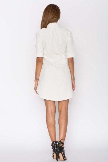 Cămașă dama tip rochie Cut albă 2
