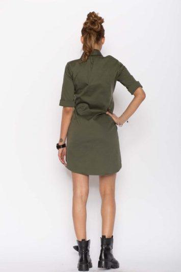 Cămașă dama tip rochie Cut kaki 2