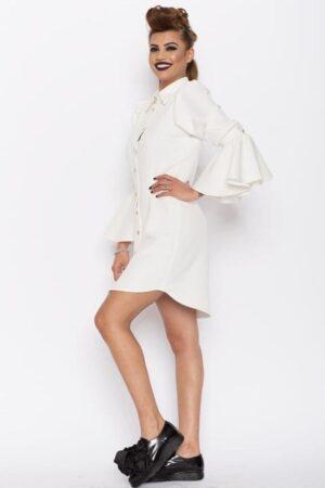 Camasa dama tip rochie Aziza alba 3