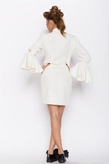 Camasa dama tip rochie Aziza alba 4