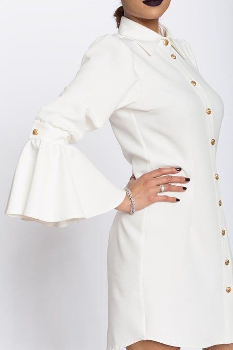 Camasa dama tip rochie Aziza alba 5