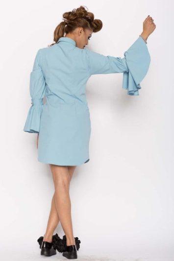 Camasa dama tip rochie Aziza bleu 3
