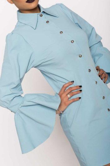 Camasa dama tip rochie Aziza bleu 4