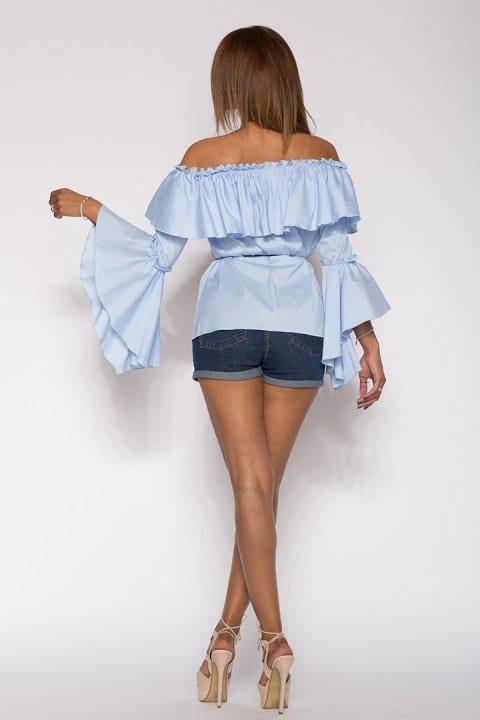 Bluza Dama Cu Volane Kendra Bleu 2