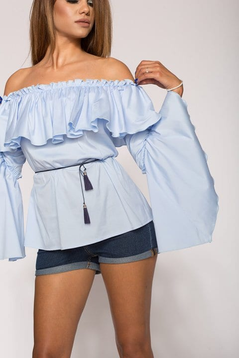Bluza Dama Cu Volane Kendra Bleu 3