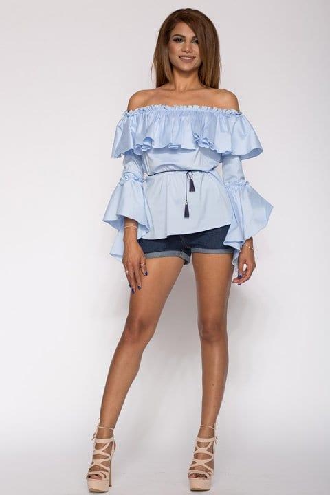 Bluza Dama Cu Volane Kendra Bleu