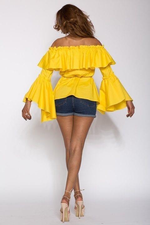 Bluza Dama Cu Volane Kendra Galbena 2