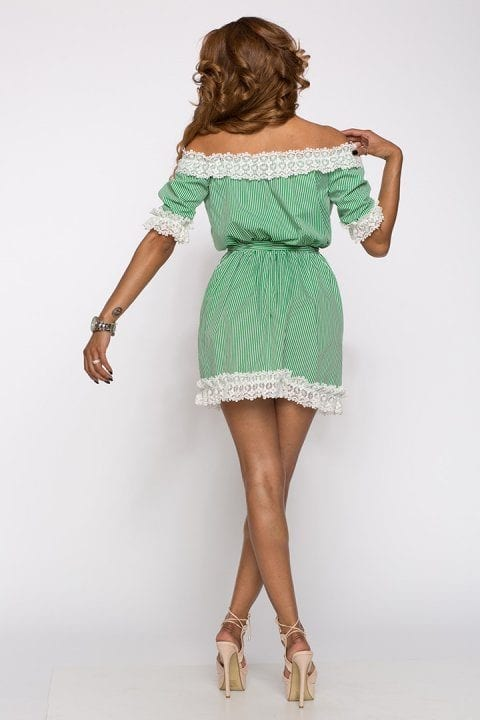 Rochie Casual Silvie Verde 3