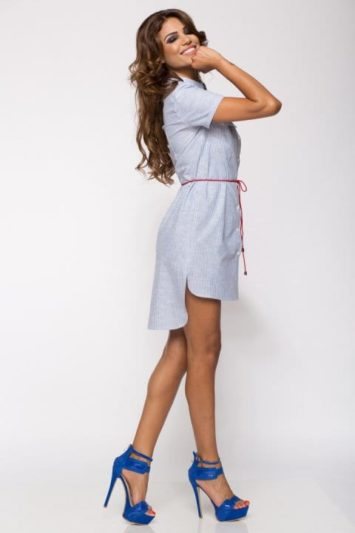 Camasa dama tip rochie Tess in dungi 2