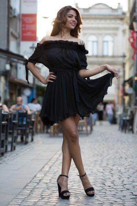 Rochie Eleganta Carina Neagra 3