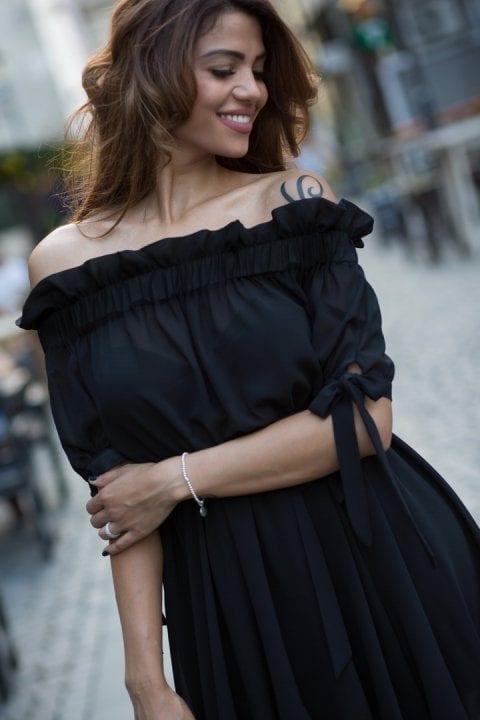 Rochie Eleganta Carina Neagra 4