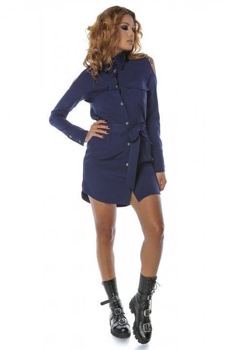 Camasa tip rochie Antonia bleumarin