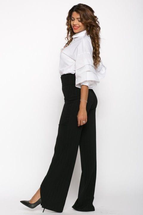 Pantaloni Dama Evazati Negri Scarlet 2
