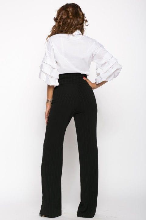 Pantaloni Dama Evazati Negri Scarlet 3