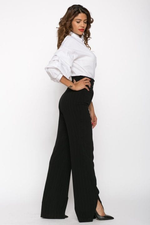 Pantaloni Dama Evazati Negri Scarlet 4