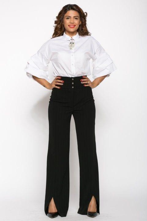 Pantaloni Dama Evazati Negri Scarlet 5