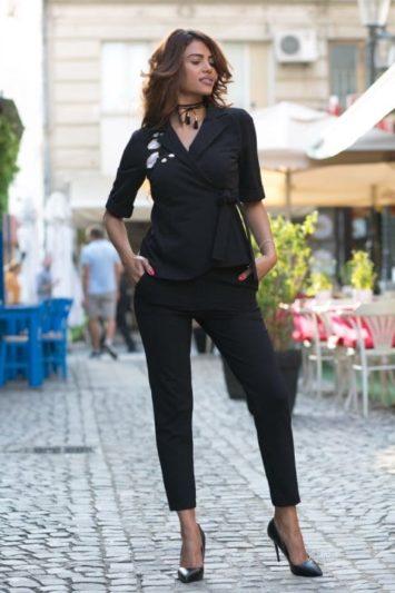 Sacou Dama Sandra Negru