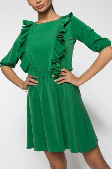 Rochie De Zi Carolina Verde 2