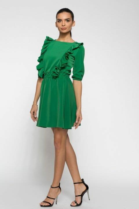 Rochie De Zi Carolina Verde 4