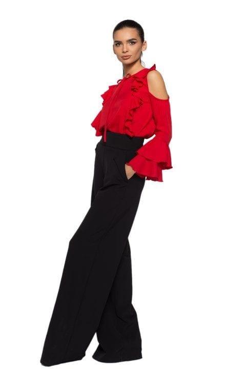 Bluză Dama Volane Ciello Roșie
