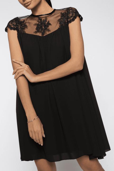 Rochie De Seara Dantela Catlin Neagra 3