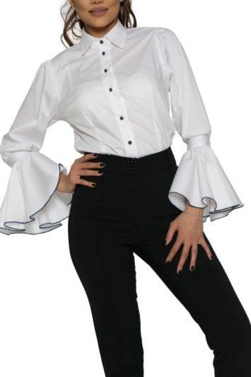 Cămașa dama office Selena cu garnitura blumarin 3