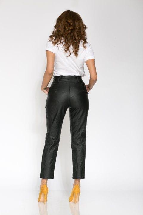 Pantaloni Dama Piele Eco Nayan Negru 3