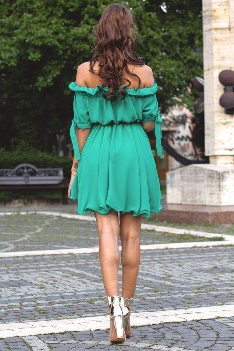 Rochie Casual Carina Verde Aqua 2
