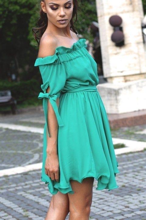 Rochie Casual Carina Verde Aqua 3