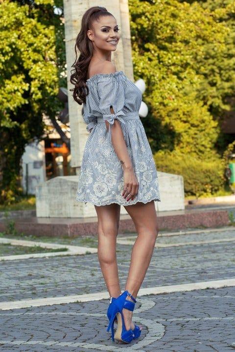 Rochie Casual Sara Blue 4