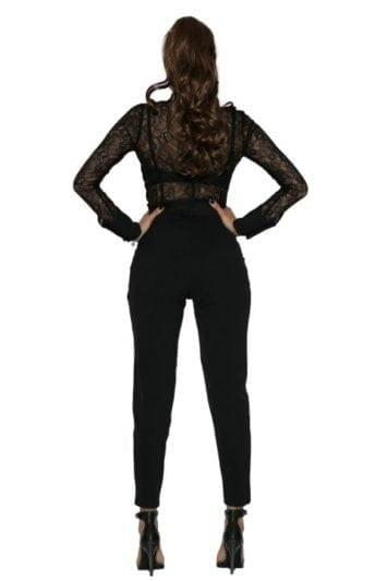 Pantaloni Dama Cu Talie Inalta Si Funda Rini 2