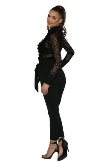 Pantaloni Dama Cu Talie Inalta Si Funda Rini 3
