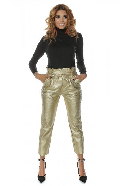 Pantalon Dama Piele Eco Nayan Aurii 4