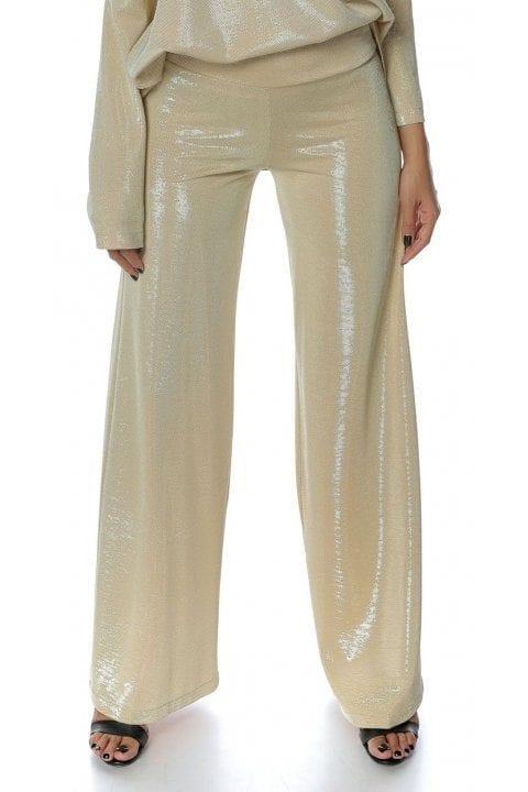 Pantaloni Dama Aurii Magnifieque