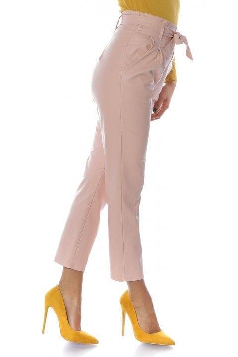 Pantaloni Dama Piele Eco Nayan Roz 3