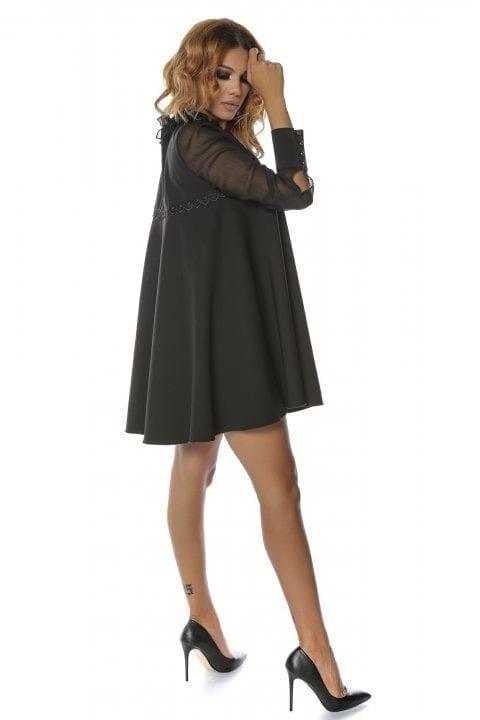 Rochie Eleganta Neagra Semiclos Anabella 4