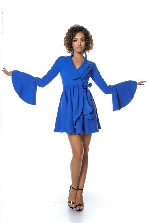 Rochie Eleganta Tip Clopot Blue Ocean 2