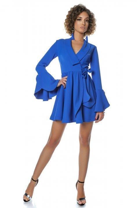 Rochie Eleganta Tip Clopot Blue Ocean 3