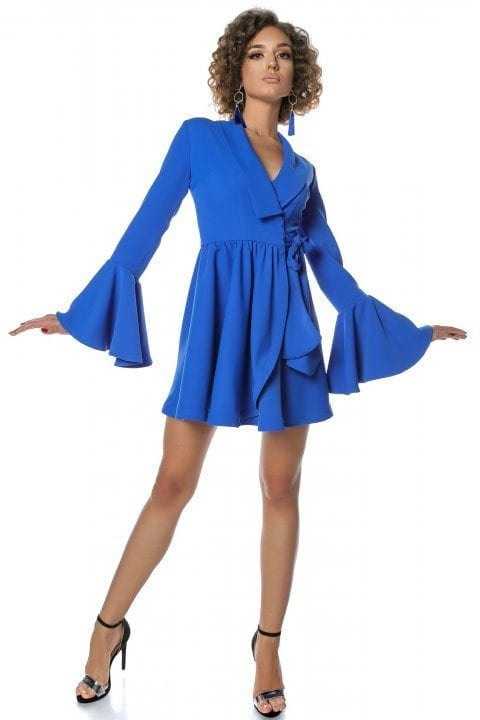 Rochie Eleganta Tip Clopot Blue Ocean 4