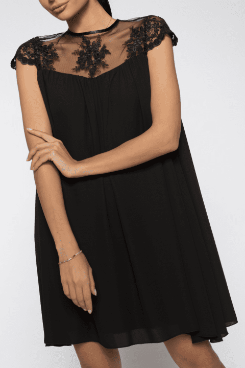 Rochie de seara dantela Catlin neagra