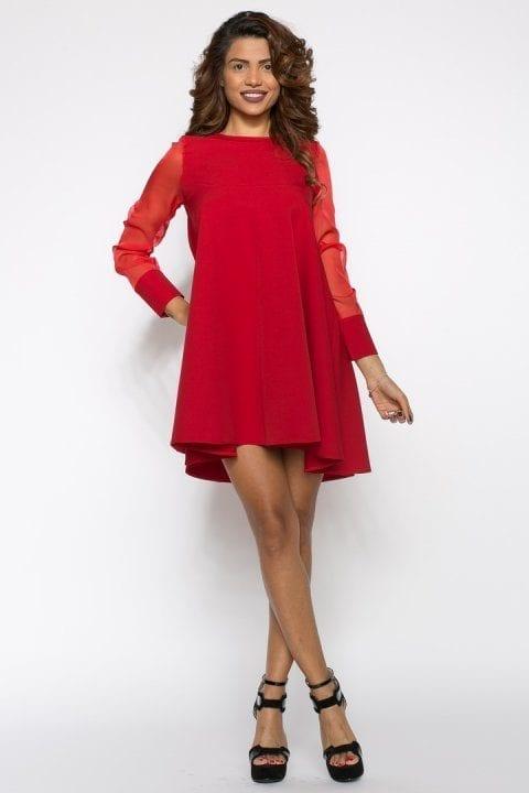 Rochie de seara scurta Mirela rosie